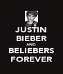 JUSTIN BIEBER AND BELIEBERS FOREVER - Personalised Poster A4 size