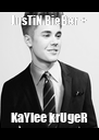 JusTiN BieBer + KaYlee krUgeR - Personalised Poster A4 size