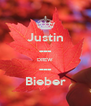 Justin --- DREW --- Bieber - Personalised Poster A4 size