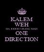 KALEM WEH DA JODOH URANG MAH ONE DIRECTION - Personalised Poster A4 size