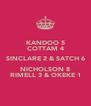 KANDOO 5 COTTAM 4 SINCLARE 2 & SATCH 6 NICHOLSON 8 RIMELL 3 & OKEKE 1 - Personalised Poster A4 size
