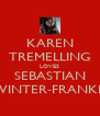 KAREN TREMELLING LOVES SEBASTIAN WINTER-FRANKIS - Personalised Poster A4 size