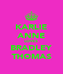 KARLIE ANNE LOVES BRADLEY THOMAS - Personalised Poster A4 size