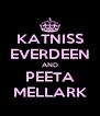 KATNISS EVERDEEN AND PEETA MELLARK - Personalised Poster A4 size