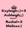 Kayleigh:;)<3 Ashleigh;;) Amy:$** Rachel<3 Melissa:) - Personalised Poster A4 size