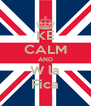 KE CALM AND W la Fica - Personalised Poster A4 size