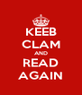 KEEB CLAM AND READ AGAIN - Personalised Poster A4 size