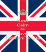 Keel Calm And Love  BatmanForLife - Personalised Poster A4 size