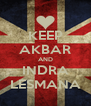 KEEP AKBAR AND INDRA LESMANA - Personalised Poster A4 size