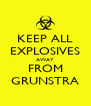 KEEP ALL EXPLOSIVES AWAY FROM GRUNSTRA - Personalised Poster A4 size