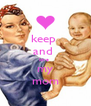 keep  and  love  my mom - Personalised Poster A4 size