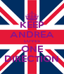 KEEP ANDREA LOVES ONE DIRECTION - Personalised Poster A4 size