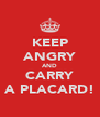 KEEP ANGRY AND CARRY A PLACARD! - Personalised Poster A4 size