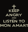 KEEP ANGRY AND LISTEN TO AMON AMARTH - Personalised Poster A4 size
