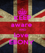 KEEP aware  AND love  EBONY  - Personalised Poster A4 size
