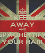 KEEP AWAY AND SPAGHETTIFY YOUR HAIR - Personalised Poster A4 size