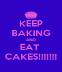 KEEP BAKING AND EAT  CAKES!!!!!!! - Personalised Poster A4 size