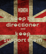 keep be directioner and keep support them - Personalised Poster A4 size