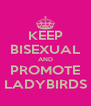 KEEP BISEXUAL AND PROMOTE LADYBIRDS - Personalised Poster A4 size