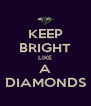 KEEP BRIGHT LIKE A DIAMONDS - Personalised Poster A4 size
