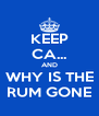 KEEP CA... AND WHY IS THE RUM GONE - Personalised Poster A4 size