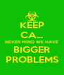 KEEP CA... NEVER MIND WE HAVE BIGGER PROBLEMS - Personalised Poster A4 size