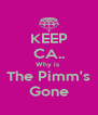 KEEP CA.. Why is  The Pimm's Gone - Personalised Poster A4 size