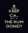KEEP CA.. WHY Is THE RUM GONE?! - Personalised Poster A4 size