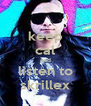 keep cal and listen to skrillex - Personalised Poster A4 size