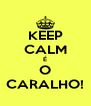 KEEP CALM É O CARALHO! - Personalised Poster A4 size