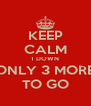 KEEP CALM 1 DOWN ONLY 3 MORE TO GO - Personalised Poster A4 size
