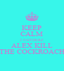 KEEP CALM 2 FAITHERZ ALEX KILL THE COCKROACH - Personalised Poster A4 size