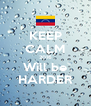 KEEP CALM 2016 Will be HARDER - Personalised Poster A4 size