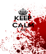KEEP CALM </3   - Personalised Poster A4 size