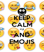 KEEP CALM <3 AND EMOJIS - Personalised Poster A4 size