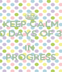 KEEP CALM 30 DAYS OF 30 IS IN  PROGRESS - Personalised Poster A4 size