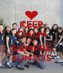 KEEP CALM 3D SIEMPRE JUNTOS - Personalised Poster A4 size