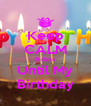 Keep CALM 9 days Until My Birthday - Personalised Poster A4 size