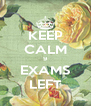KEEP CALM 9 EXAMS LEFT - Personalised Poster A4 size