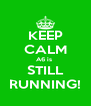 KEEP CALM A6 is  STILL RUNNING! - Personalised Poster A4 size