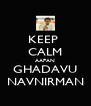 KEEP  CALM AAPAN GHADAVU NAVNIRMAN - Personalised Poster A4 size