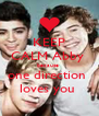KEEP CALM Abby  because  one direction  loves you  - Personalised Poster A4 size