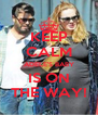 KEEP CALM ADELE'S BABY IS ON THE WAY! - Personalised Poster A4 size