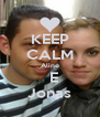 KEEP CALM Aline   E Jonas - Personalised Poster A4 size