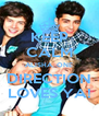 KEEP CALM ALISHA, ONE DIRECTION LOVES YA! - Personalised Poster A4 size