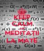 KEEP CALM AM MEDITAŢII LA MATE - Personalised Poster A4 size