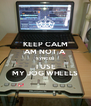KEEP CALM AM NOT A SYNC DJ  I USE MY JOG WHEELS - Personalised Poster A4 size