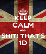 KEEP CALM AN- SHIT! THAT'S 1D - Personalised Poster A4 size