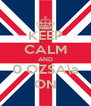 KEEP CALM AND 0 OZSA\a ON - Personalised Poster A4 size