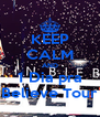KEEP CALM AND 1 Dia pra Believe Tour - Personalised Poster A4 size